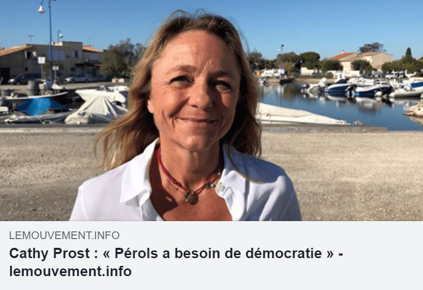 Cathy Prost : « Pérols a besoin de démocratie »